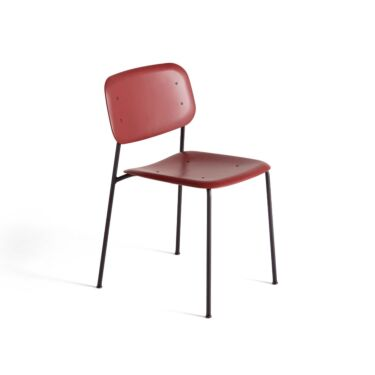 HAY Stol, Soft Edge P10, Farge: Fall Red, Understell: Sort