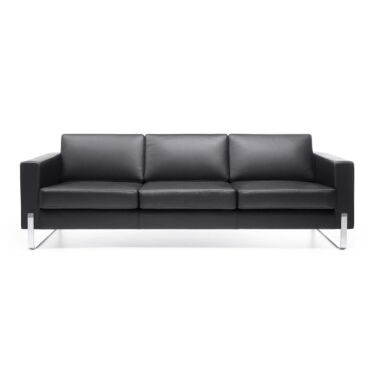 Myturn Sofa, 3-seter, Naturhud Sort