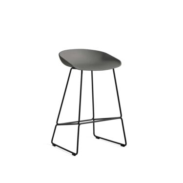 HAY Stol About A Stool, Barstol AAS 38, Sittehøyde: 65 cm, Farge: Grey, Understell: Sort