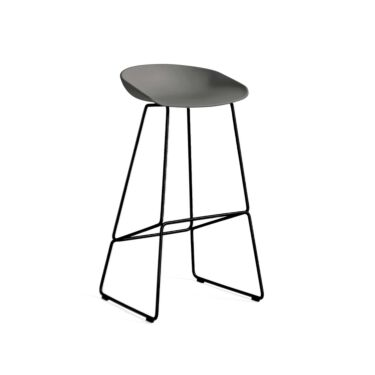 HAY Stol About A Stool, Barstol AAS 38, Sittehøyde: 75 cm, Farge: Grey, Understell: Sort