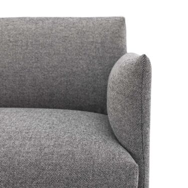 Sofa Muuto Outline, 3-seter Chaise Lounge, Høyre, Tekstil: Hallingdal 166